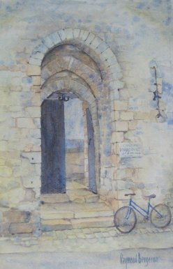 Byciclette bleu de Roselyne