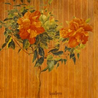 Fleurs cuivrées