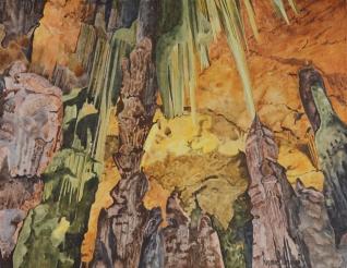 Grotte fraîche aux couleurs chaudes